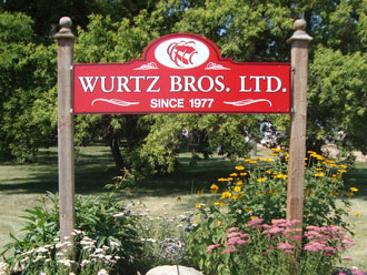 Wurtz Bros. Ltd. Sign