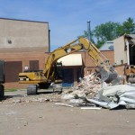 Demolition of the R.J. Waugh School in Carberry, MB