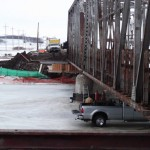 Demolition of a Bridge in Cross Lake, MB